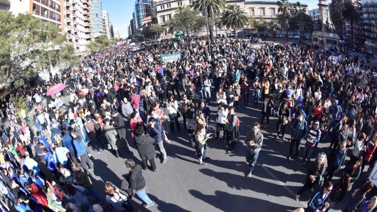 La marcha universitaria (LaVoz/Archivo).