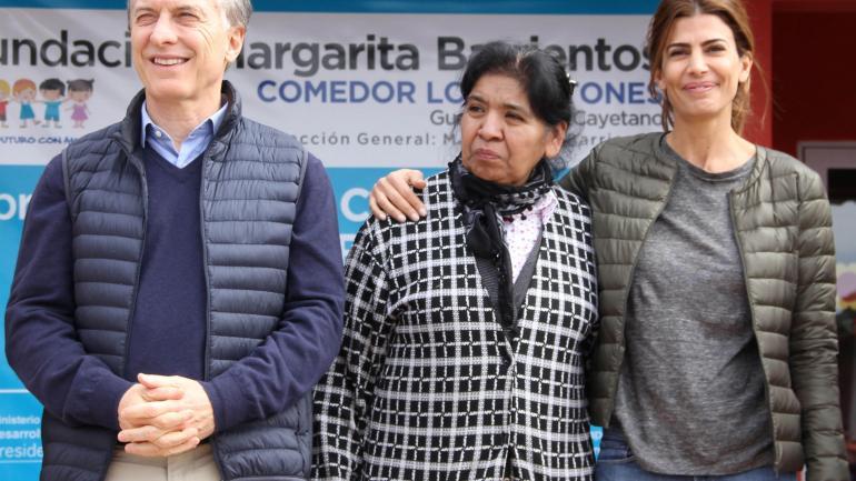 MARGARITA BARRIENTOS. La fundadora de Los Piletones le da su apoyo al Gobierno nacional. (DyN)