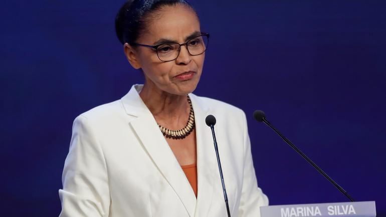 Marina Silva. La ecologista está tercera en los sondeos con un 15 por ciento.