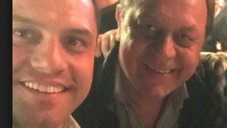 Matías y su padre, Gustavo Santos.