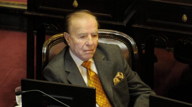 Carlos Menem, actual senador nacional por La Rioja.