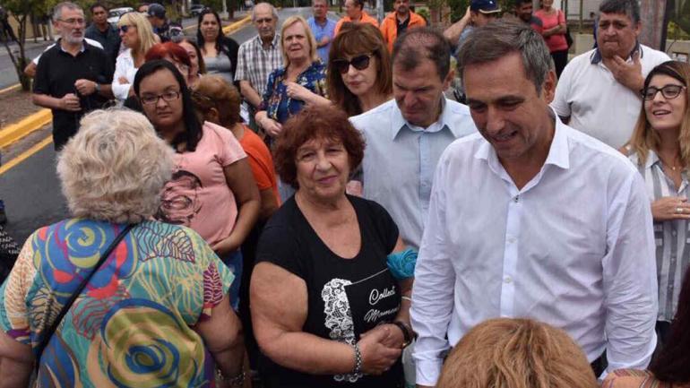 Visita. Mestre fue a Villa María. El jueves inauguró obras en Córdoba.