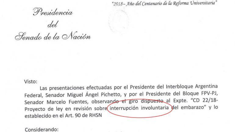 La foto del documento que circuló en redes.
