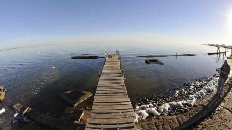 La gigante laguna Mar Chiquita, en Miramar.