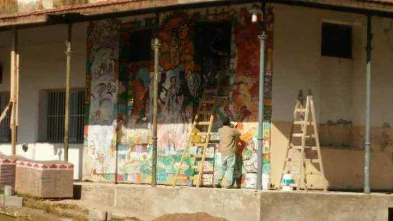 El mural.