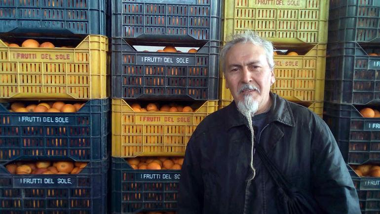 Nino Quaranta, miembro de SOS Rosarno. (DPA)