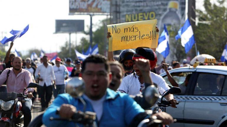 Manifestaciones en Nicaragua (AP).