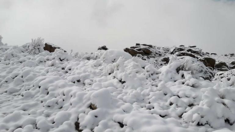 También nevó en Villa Yacanto (La Voz).