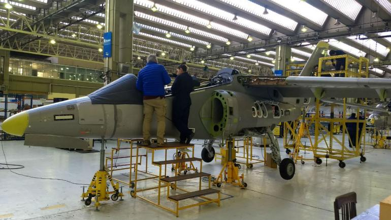 PAMPA III. Esta es una de los aviones que se entregará en unos meses a la Fuerza Aérea (La Voz).