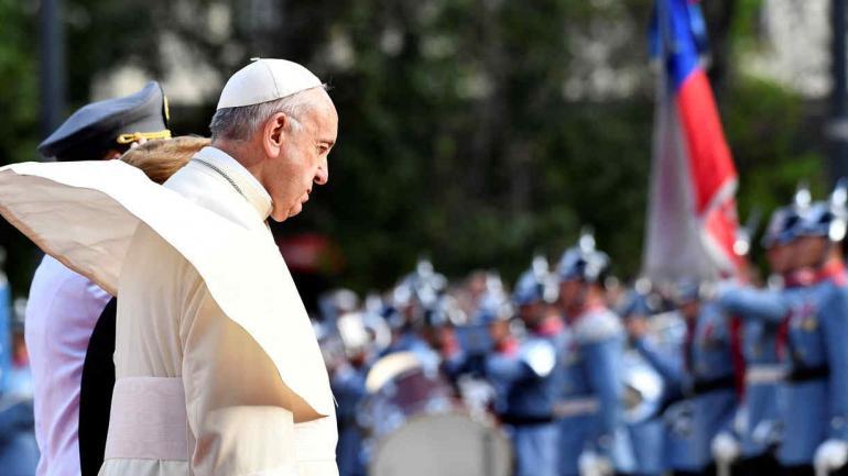 PAPA. En su visita a Chile pidió perdón por los casos de abusos sexuales (AP).