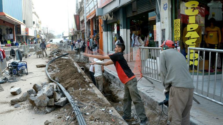 CÓRDOBA. Calle San Martín, en el último tramo de la obra peatonal (Municipalidad de Córdoba).