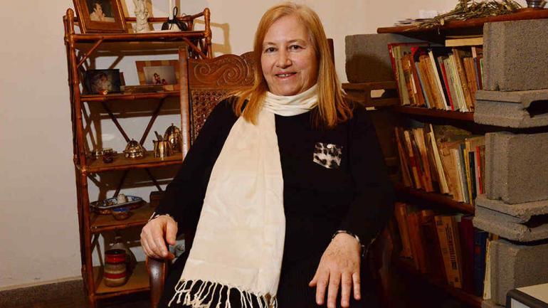 """""""El rock en los '70 hacía pensar. Hoy es parte del entretenimiento"""", dice Patricia Perea (foto: Facundo Luque)."""