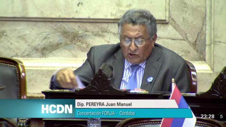 En el ranking de 2017, el diputado cordobés que más dinero obtuvo por ese canje fue Juan Manuel Pereyra.