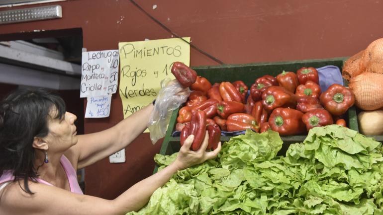 """""""Picantes"""". El pimiento rojo no baja de los $ 140 por kilo, y llega a $ 170 en el súper. El verde, $ 130. La berenjena, a más $ 50 por kilo."""