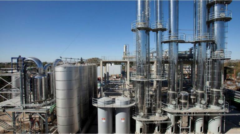 BIOETANOL. La planta de Porta produce bioetanol para usos medicinal y alimenticio (Porta Hermanos)