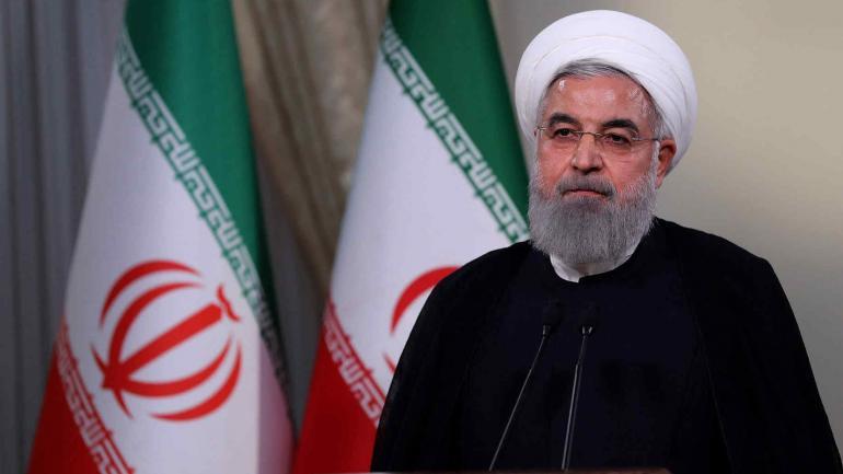 El presidente iraní, Hassan Rohani, asegura en Teherán, Irán, que su país continuará siendo parte del acuerdo nuclear de 2015 pese a la retirada de Estados Unidos, anunciada por el presidente Trump. (DPA)