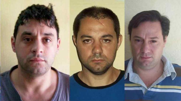 Los tres hombres buscados.