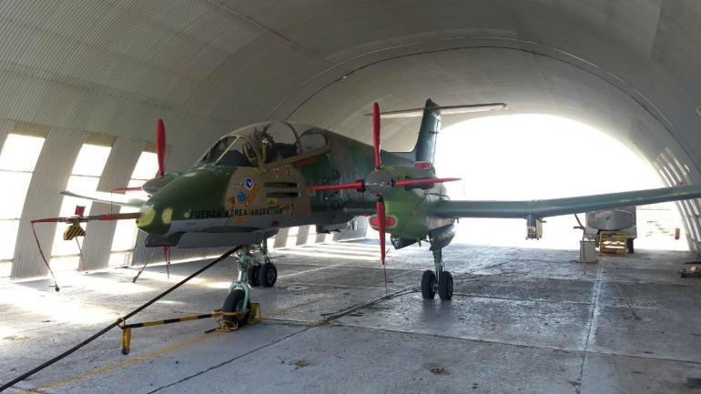 PUCARÁ. Este avión fue remotorizado. Ahora se están certificando sus componentes (La Voz).