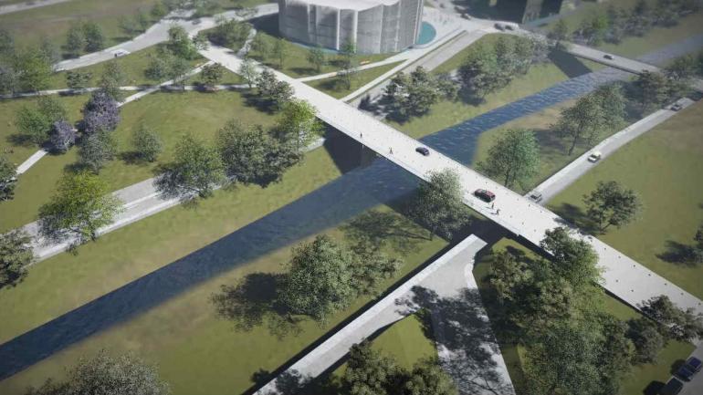 PUENTE. Conectará calle 25 de Mayo, en barrio General Paz. (Prensa Gobierno).