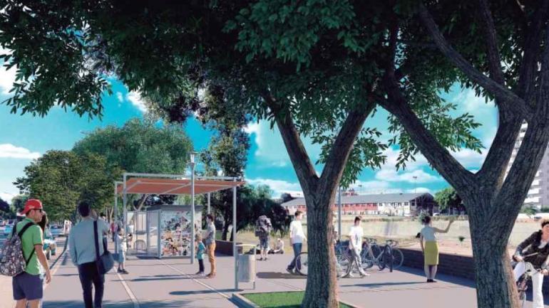 Rambla. La ciudad de Córdoba quiere tener su paseo junto al río.