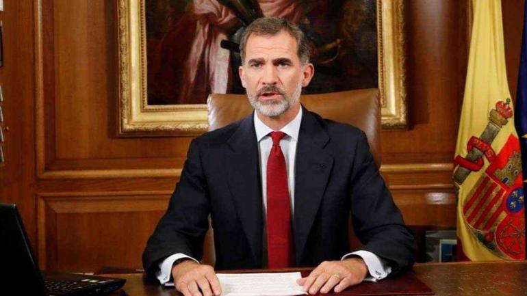 El Rey de España habló sobre el conflicto con Cataluña (prensa Casa Real).