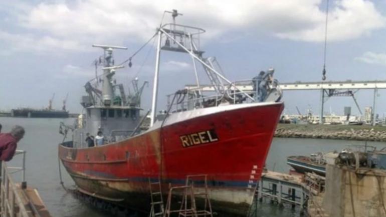 """El buque """"Rigel"""". (Twitter: Roberto Garrone)"""