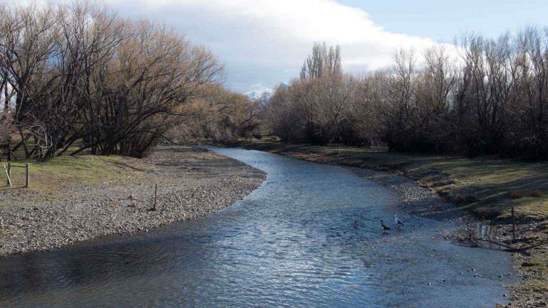 Imagen del río Chubut (La Voz).