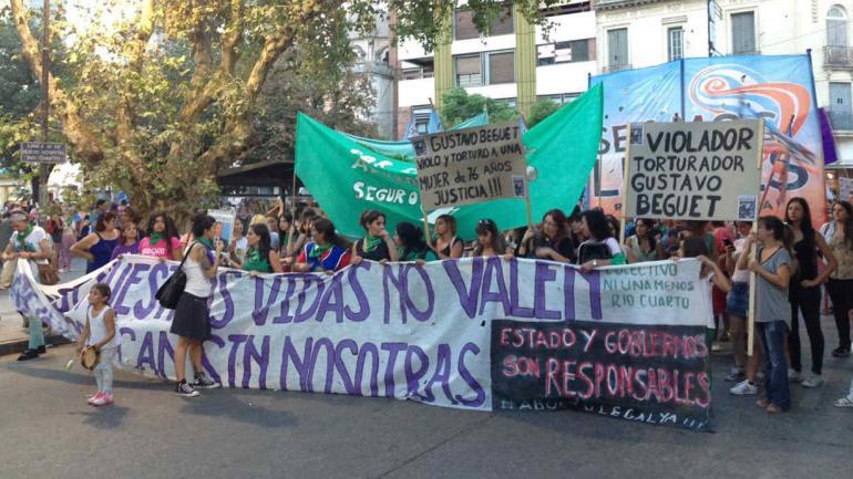 La movilización en Río Cuarto.
