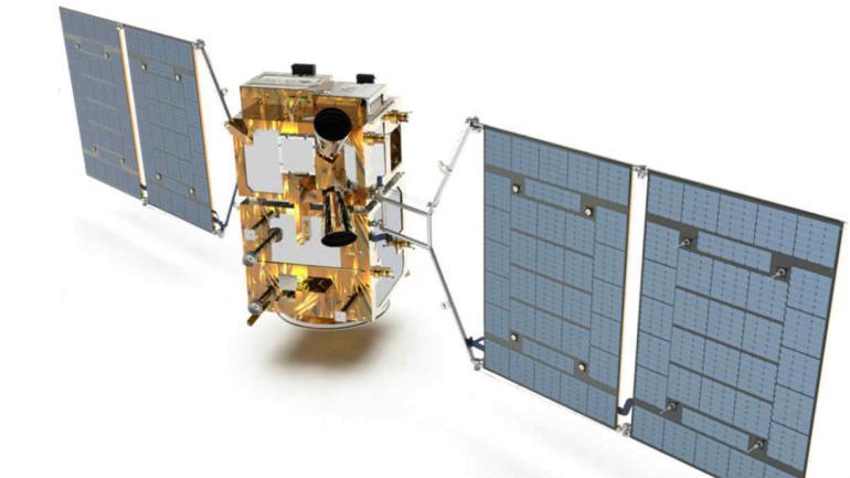ESQUEMA. Así será el satélite. Desplegado tendrá 8,7 metros de largo. Pesará 550 kilos. (Conae)