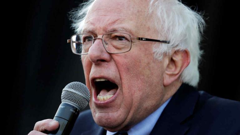 El senador Bernie Sanders habló durante la conmemoración de Luther King. (AP)