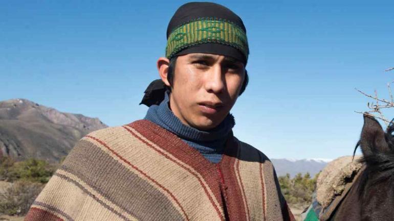 CASO MALDONADO. Matías Santana, uno de los mapuches denunciados (La Voz/Archivo).