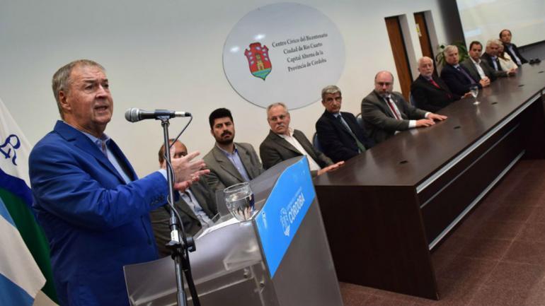 Schiaretti durante el acto con el presidente del Consejo de la Magistratura de la Nación (Prensa Gobierno).