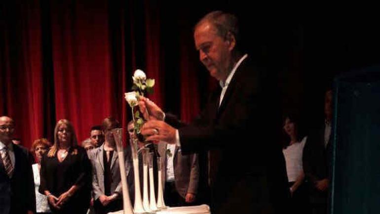 SCHIARETTI. Fue el orador central del acto en memoria del Holocausto judío.