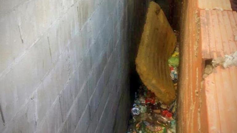 El lugar donde hallaron su cuerpo, adentro de una bolsa (foto La Nación).