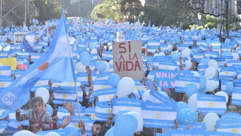 La marcha a favor de la vida en Córdoba. (Archivo / La Voz/ Ramiro Pereyra)