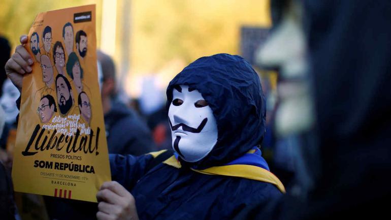 ESPAÑA. Marcha en Cataluña (AP).