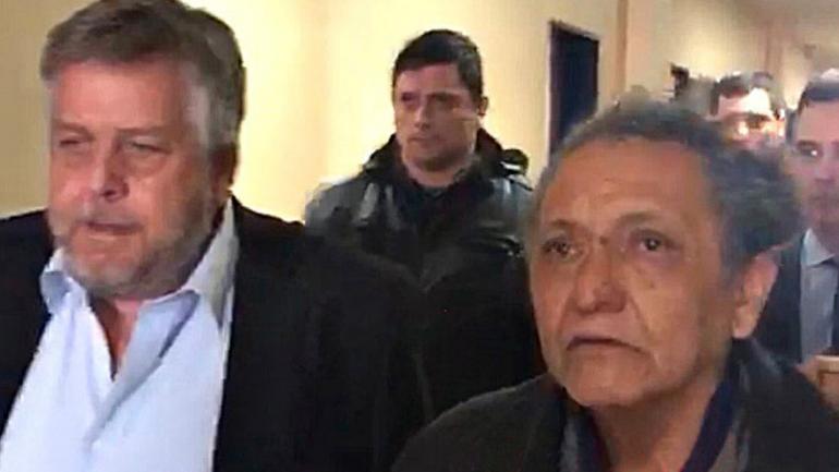 """Comodoro Py. El fiscal Stornelli junto al remisero Oscar Centeno, el día en que el autor de los cuadernos se convirtió en """"arrepentido"""". (Captura de tv)"""