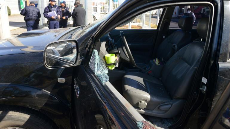 Salidera. Un empresario fue baleado en Juan B. Justo y Circunvalación tras salir de una financiera. (Nicolás Bravo)