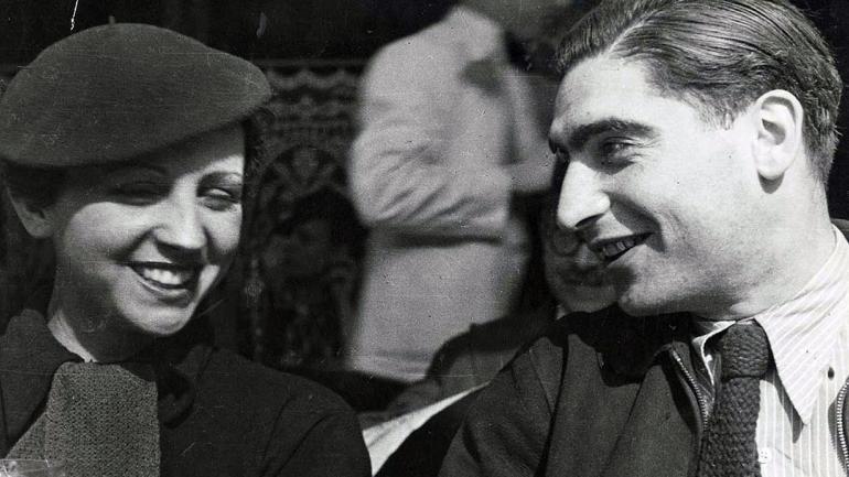 Gerta Pohorylle y Endre Friedmann, ambos Robert Capa. (AP/ archivo)