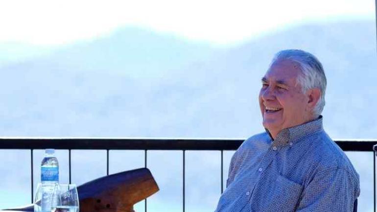 Tillerson en el Nahuel Huapi National. (Reuters)