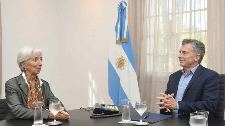 Macri con Lagarde en la Quinta de Olivos. (Télam)