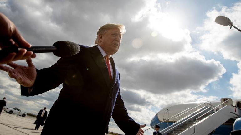 TRUMP. Al hablar sobre la masacre (AP/Andrew Harnik).