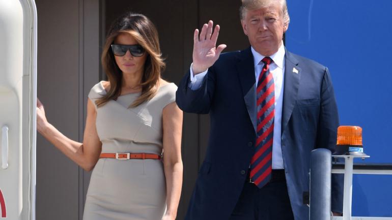 TRUMP. Y su esposa, Melania (Joe Giddens/PA Wire/DPA).