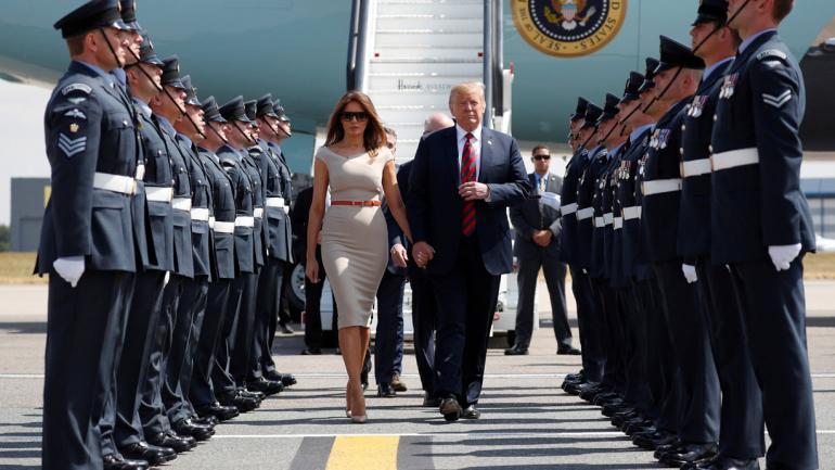 TRUMP. Y su esposa, Melania (AP).