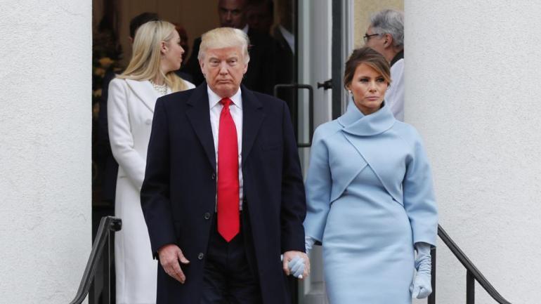 Trump y Melania, el día de la asunción (AP/Archivo).