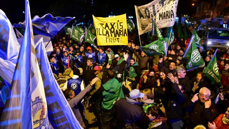Villa María. Despidos y protesta.