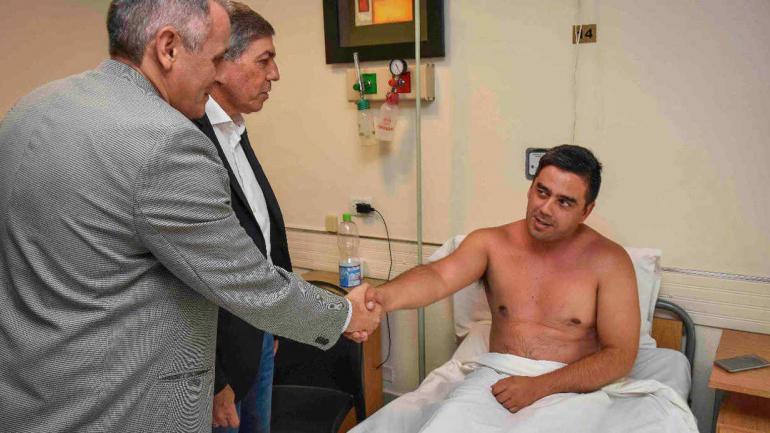 Villagran fue visitado este viernes por el jefe de policía Gustavo Marcelo Vélez y el ministro de Seguridad Carlos Massei.