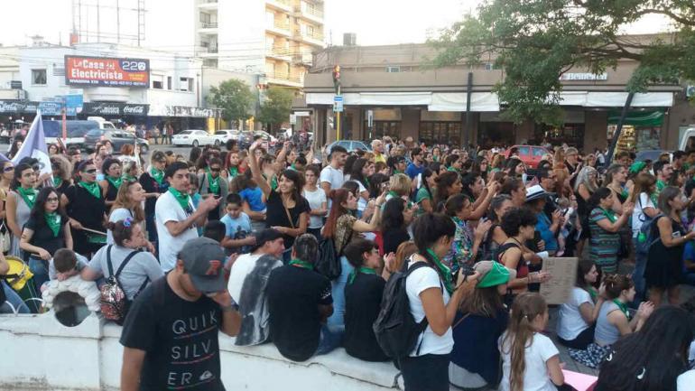 La concentración en Villa María.
