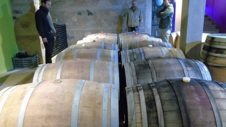 En barricas. Se estacionan en madera los vinos de la bodega Aráoz de Lamadrid, que tienen en una producción de 12 milímetros anuales. (La Voz)