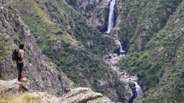 Las tres cascadas dentro de la Quebrada del Yatán (La Voz)